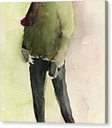 Man In A Green Jacket Fashion Illustration Art Print Canvas Print by Beverly Brown