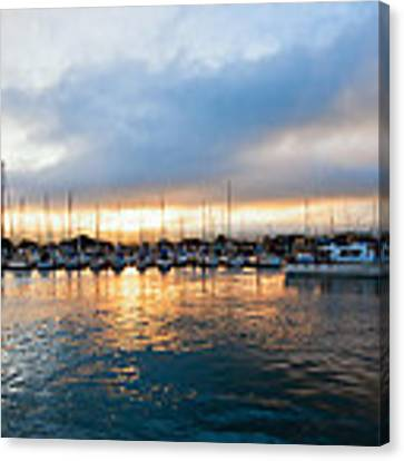 Marina Sunrise 1 Canvas Print by Jim Thompson