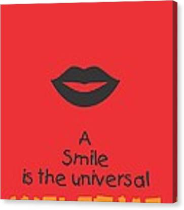 Max Eastman Smile Quotes Poster Canvas Print