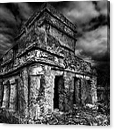 Mayan Building Canvas Print by Julian Cook