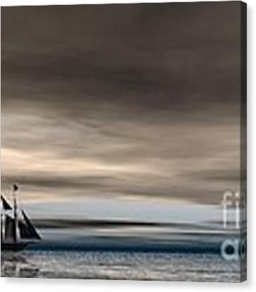 Melancholy Waters Canvas Print by Sandra Bauser Digital Art