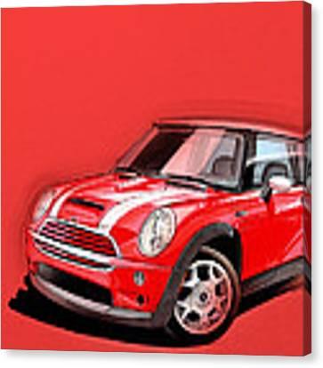 Mini Cooper S Red Canvas Print