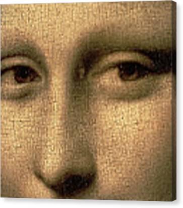 Mona Lisa    Detail Canvas Print