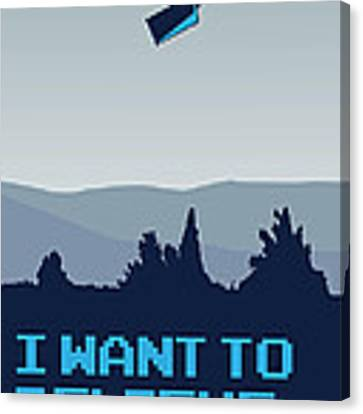 My I Want To Believe Minimal Poster- Tardis Canvas Print
