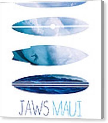 My Surfspots Poster-1-jaws-maui Canvas Print