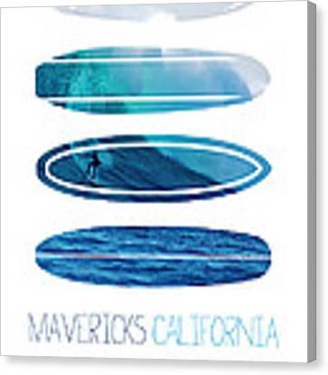 My Surfspots Poster-2-mavericks-california Canvas Print