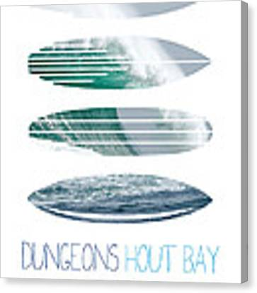My Surfspots Poster-4-dungeons-cape-town-south-africa Canvas Print by Chungkong Art