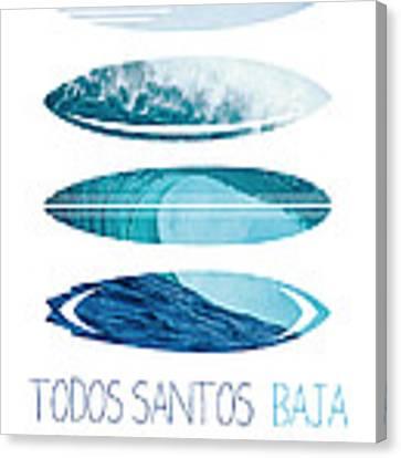 My Surfspots Poster-6-todos-santos-baja Canvas Print by Chungkong Art