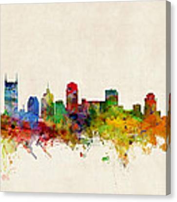 Nashville Tennessee Skyline Canvas Print