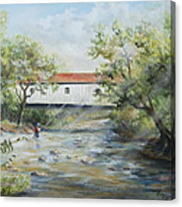 New Jersey's Last Covered Bridge Canvas Print by Katalin Luczay