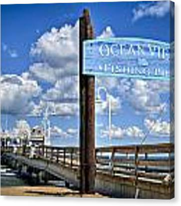 Ocean View Fishing Pier Color Canvas Print by Williams-Cairns Photography LLC