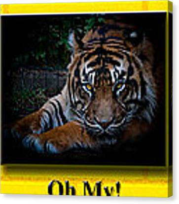 Oh My Canvas Print by Robert L Jackson