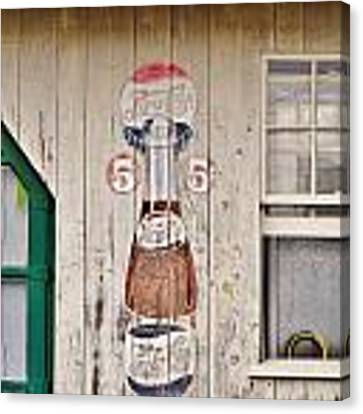 Old Soda Ad At Go Organic Berlin Maryland Canvas Print by Kim Bemis