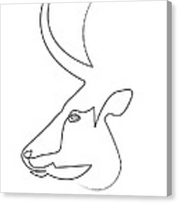 oneline Bull Canvas Print
