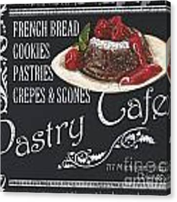 Pastry Cafe Canvas Print