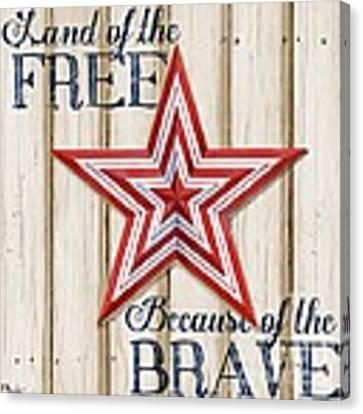 Patriotic Spirit Barn Star I Canvas Print
