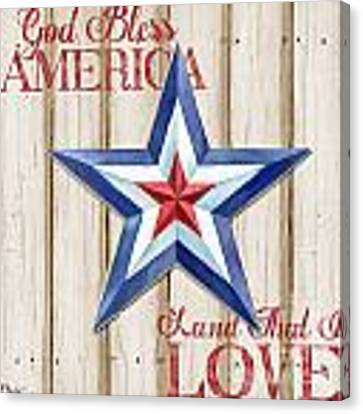 Patriotic Spirit Barn Star IIi Canvas Print