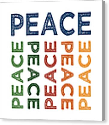 Peace Cute Colorful Canvas Print