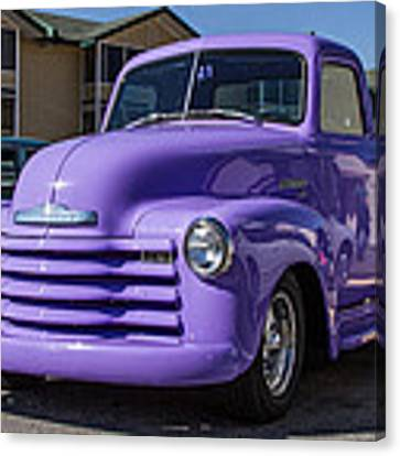 Purple Chevy Truck Canvas Print by Robert L Jackson