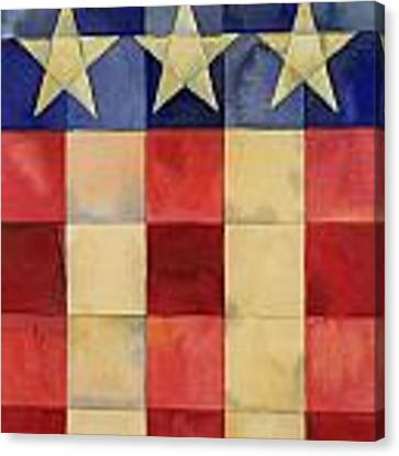 Quilted Flag Vertical Canvas Print