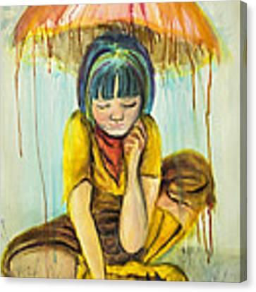 Rain Day  Canvas Print by Angelique Bowman
