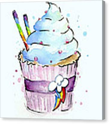 Rainbow-dash-themed Cupcake Canvas Print