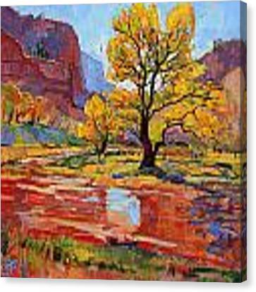 Reflections In The Wash Canvas Print by Erin Hanson