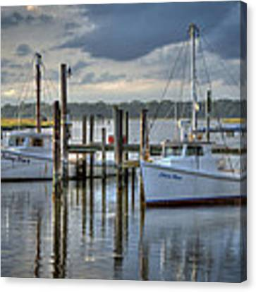 Rescue Fishing Boats Canvas Print by Williams-Cairns Photography LLC