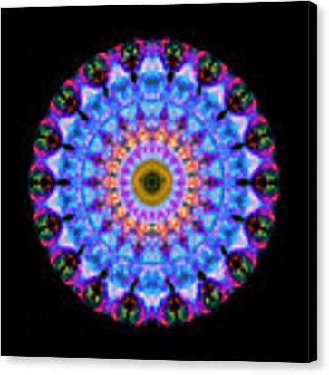 Sacred Crown - Mandala Art By Sharon Cummings Canvas Print