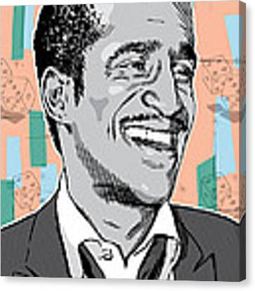 Sammy Davis Jr Pop Art Canvas Print by Jim Zahniser