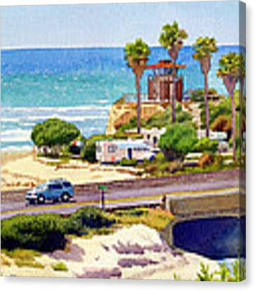 San Elijo Campground Cardiff Canvas Print by Mary Helmreich