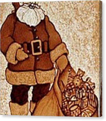 Santa Claus Bag Canvas Print by Georgeta  Blanaru