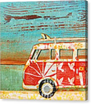 Santa Cruise Canvas Print