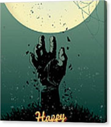 Scary Halloween Canvas Print by Gianfranco Weiss