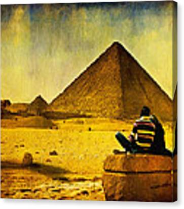 See The Pyramids - Egyptian Adventure Canvas Print by Mark E Tisdale