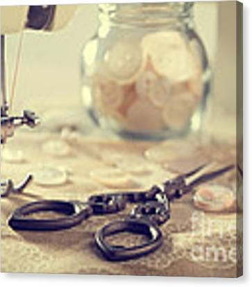 Sewing Items Canvas Print by Amanda Elwell