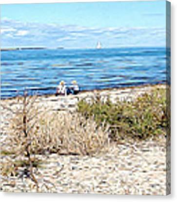 Shelter Island Beach Canvas Print by Meghan OHare
