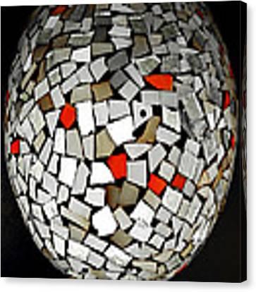 Silver Egg Canvas Print by Eleni Mac Synodinos