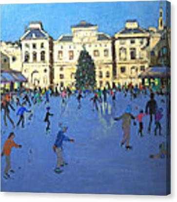 Skaters  Somerset House Canvas Print by Andrew Macara