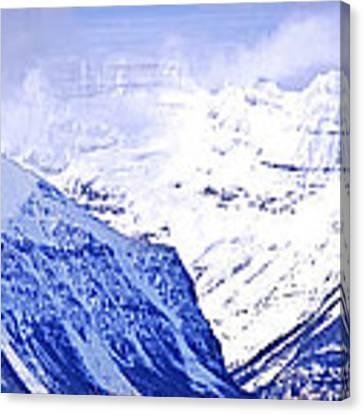 Snowy Mountains Canvas Print by Elena Elisseeva