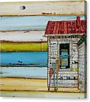 Southern Maine Beach Shack Canvas Print