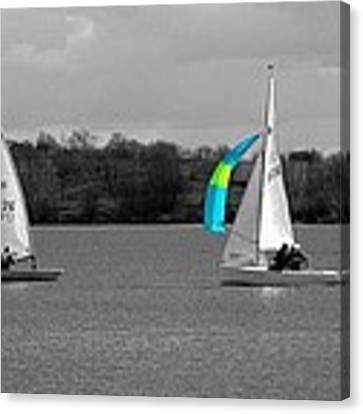 Spring Sailing Canvas Print by Jeremy Hayden