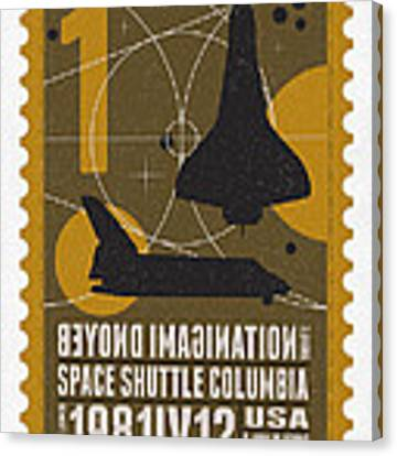 Starschips 01-poststamp - Spaceshuttle Canvas Print