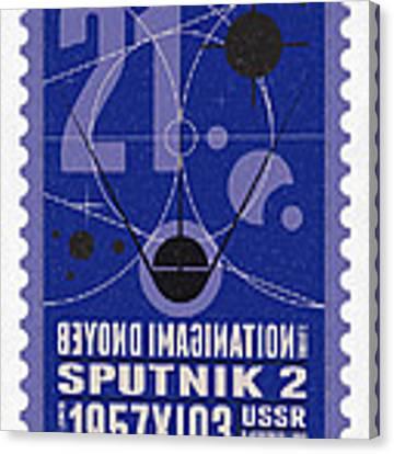 Starschips 21- Poststamp - Sputnik 2 Canvas Print