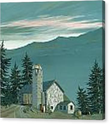 Stone Barn Canvas Print
