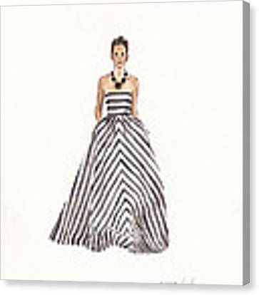 Striped Glamour Canvas Print