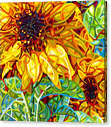Summer In The Garden Canvas Print by Mandy Budan