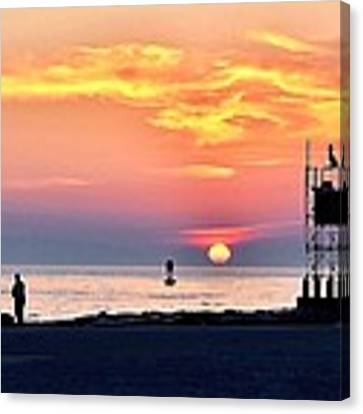 Sunrise At Indian River Inlet Canvas Print by Kim Bemis