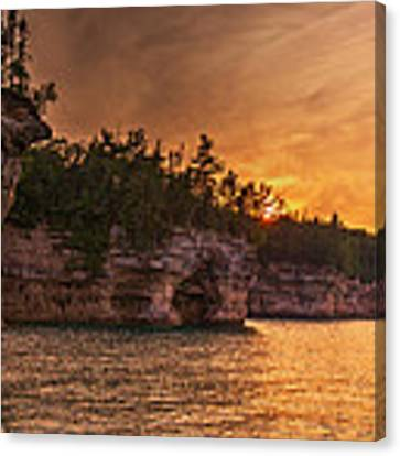 Superior Cliffs At Sunset Canvas Print by At Lands End Photography