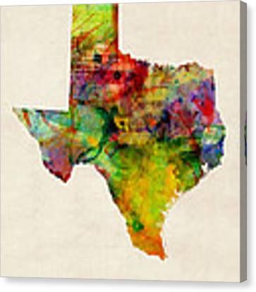 United States Map Canvas Prints Fine Art America - Print us state map